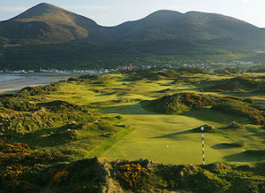 3rd hole and Mourne Mountains